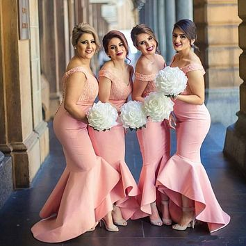Robe Demoiselle D'honneur Mermaid Bridesmaid Dresses Hot Sale Cap Sleeve Elegant Party dress Special Occasion Bridesmaid Dress