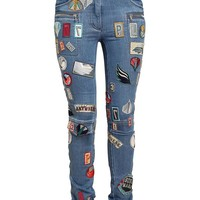 3.1 PHILLIP LIM | Denim Jeans with Badge Appliqué | Browns fashion & designer clothes & clothing