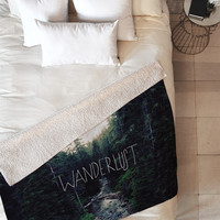 Leah Flores Wanderlust 1 Fleece Throw Blanket