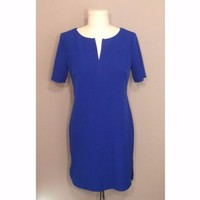 Adrianna Papell Blue Cocktail High Low Dress with Zipper Sz 6P