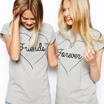 "Gray ""Friends"" & ""Forever"" T-Shirts"