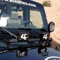 KC HiLiTES 7409 2007-2013 Jeep Wrangler JK Hood Mount 2-Tab Light Bar