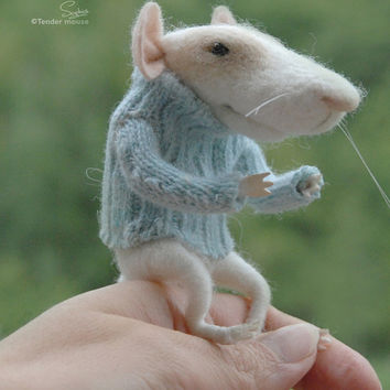 Needle mouse, felted mouse, felted miniature,felt miniature,needle animal,art and collectibles,dolls & miniatures,tender mouse-READY TO SHIP