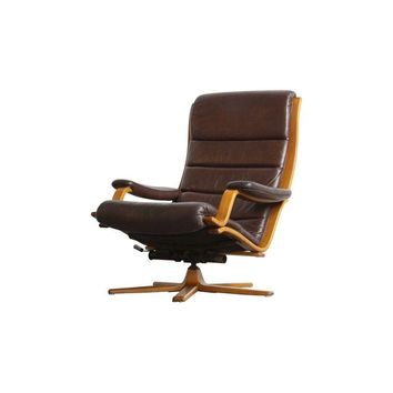 Pre-owned Gote Mobel Mobler Danish Leather Lounge Chair