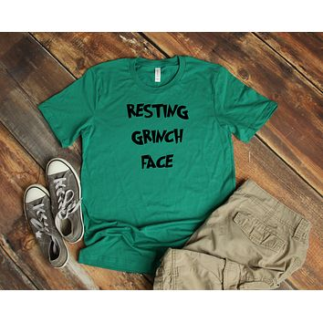 Resting Grinch Face Unisex Short-Sleeve T-Shirt