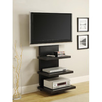 """Walmart: Wall Mount Black Espresso TV Stand with 3 Shelves, for TVs up to 60"""""""