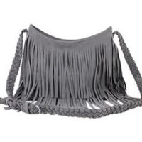 Tassel Shoulder Messenger Cross Body Bag