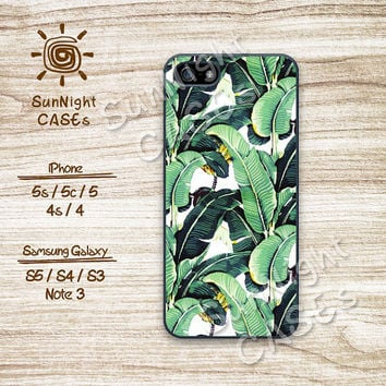 Tropical, Banana Leaf, Pattern, iPhone 5 case, iPhone 5C Case, iPhone 5S case, Phone case, iPhone 4 Case, iPhone 4S Case,Samsung Galaxy, 045