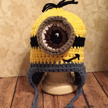 Crochet Minion Inspired Hat