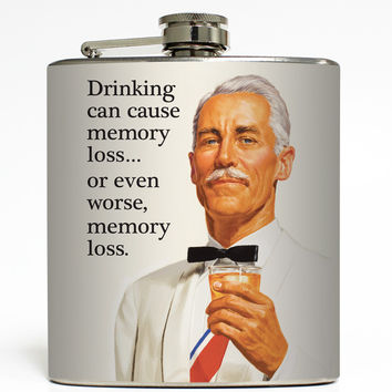 Drinking Can Cause Memory Loss - Funny Flask
