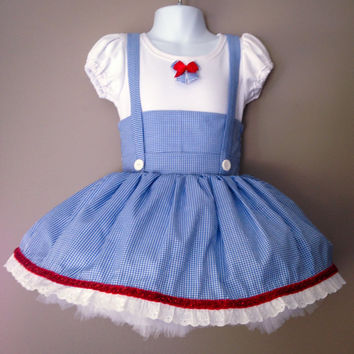 Dorothy Costume-Wizard of Oz-birthday party idea-birthday gift idea-Halloween costume idea-dress up clothes-dance recital costumes