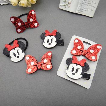 Top cute kids baby girls hair clip pin bowknot hairpin headwear barrette accessories for children hairgrips clip headdress lot