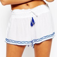 Surf Gypsy Embroidered Beach Shorts