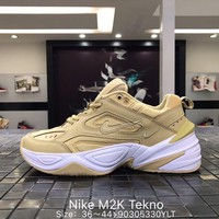 NIKE Air M2K TEKNO Fashion New Embroidery Hook Women Men Running Sports Shoes