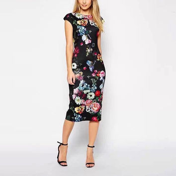Floral Elegant Party Dress