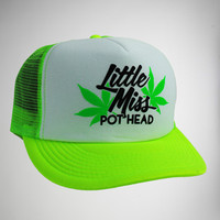 """Little Miss Pothead"" Trucker Hat"