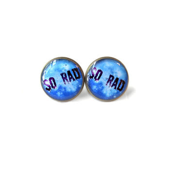 Galaxy so rad Stud Earrings - Pastel Goth Soft Grunge Pop Culture Jewelry