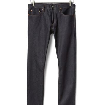 Selvedge skinny fit jeans (stretch) | Gap
