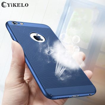 YiKELO Breathing Phone Case For iPhone 5s 6s 7 Plus SE Shockproof PC Back Covers Shell Protective Housing For iPhone 5 6 s Plus