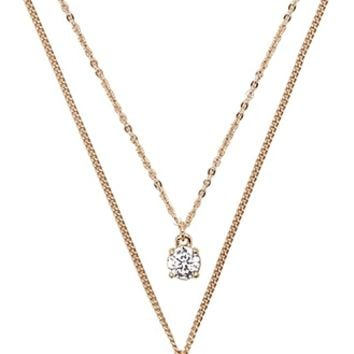 Layered Cubic Zirconia Necklace