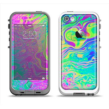 The Neon Color Fushion Apple iPhone 5-5s LifeProof Fre Case Skin Set