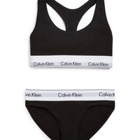 Calvin Klein Underwear Modern Cotton Bralette and Bikini Gift Set #QSET001 | Bloomingdales's