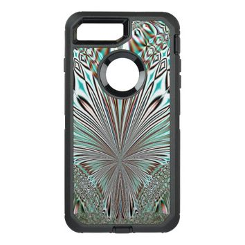 abstract crystal design OtterBox defender iPhone 7 plus case