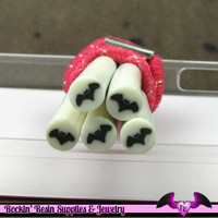 Black BAT Halloween Polymer Clay Cane for Nail Art Decoden Kawaii DIY