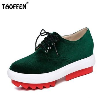 Spring Vintage Lace-up Women Shoes Rome Style Dating Shoes Women Platforms Casual Flats Round Toe Zapatos Mujer Size 33-42