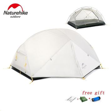 DHL free shipping Naturehike Mongar 2 Camping Tent Double Layers Waterproof Ultralight Dome Tent for 2 Person