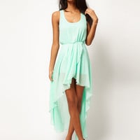 Mint chiffon Long skirt dress
