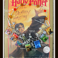 Harry Potter Charm Bracelet with Book Beads from by maryfaithpeace
