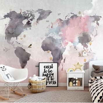 3D Photo Wallpaper painting Abstrust world map Wall Murals Living Room TV Sofa Backdrop Wall Paper Modern Home Decor Room