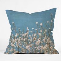 Lisa Argyropoulos Reaching For Spring Outdoor Throw Pillow