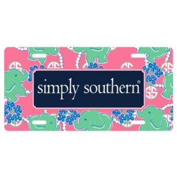 Simply Southern Elephant Car Tag