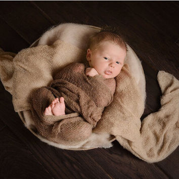 50*50cm  Fluffy Wool Felt Fleece Real Pure Wool Basket Filler Stuffer Newborn Photography Props