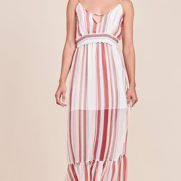 Women's Jack by BB Dakota Luciana Striped Chiffon Maxi
