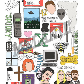 X-Files TV Collage Print (8x10 or 11x14) *Great gift for guys!*