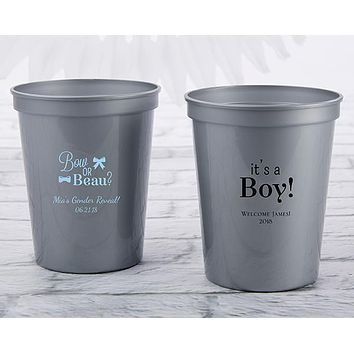Personalized 16 oz. Stadium Cup - Baby Shower