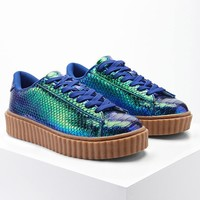 Iridescent Two-Tone Sneakers