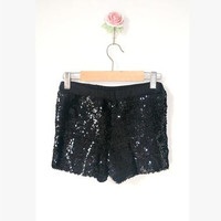 Women Silver Gold Black Red Sequin Shorts Female Sexy Skinny Elastic High Waist Shorts Hip hop Costume