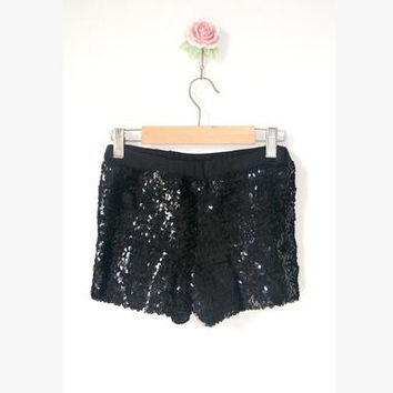 Women Sequin Shorts Female Sexy Skinny Elastic High Waist Pailette Short Pantalon corto lentejuelas Hip hop Costume