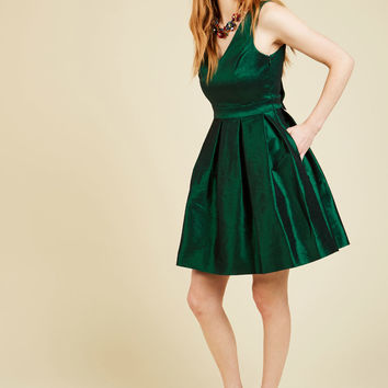 My Gift to You Dress in Emerald | Mod Retro Vintage Dresses | ModCloth.com