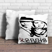 BONNIE AND CLYDE Pillow | Aneend