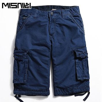 Fashion Men Military Shorts Casual Cotton Cargo Shorts Men