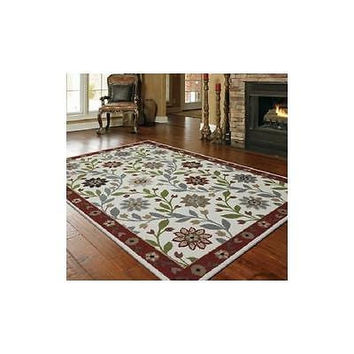 Mohawk Home Casual Floral Woven Rug, Biscuit 30 X 46