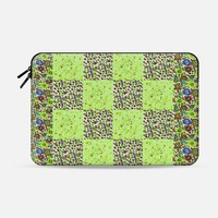 """Green with flowers Macbook 12"""" sleeve by littlesilversparks 