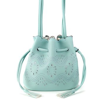 Bucket Crossbody Bag Turquoise