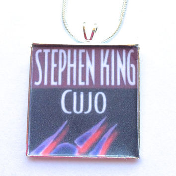 Stephen King Book necklace-Library,book lover gift,librarian,literary jewelry,Teacher Gift,Bibliophile,Book Lover Necklace,Literary Jewelry