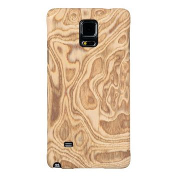 Olive Ash Burl Veneer Real Wood Galaxy Note 4 Case
